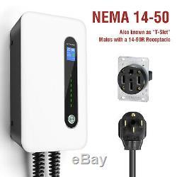 Level2 EV Charging Station 32A Home Electric Vehicle Charger NEMA14-50 EVSE 240V