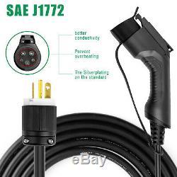 Level 2 Portable EV Charger SAE J1772 Charging Station NEMA6-20 240V 10/16A 25FT