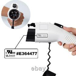 Level 2 Portable EV Charger with NEMA 6-20P (240 Volt, 25ft Cable, 16 Amp)