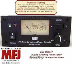 MFJ 4230MV 30 AMP Switching Power Supply With Meter, 4-16 Volts Adjustable NEW