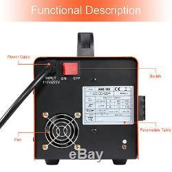 MIG Welder 120AMP 110/220V Dual Volt Gasless Flux-Core MIG Welding Machine