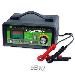 Manual Battery Charger 2/6 Amp 6/12 Volt Heavy Duty Copper Clamp New Power Tool