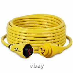 Marinco CS30-50 Yellow Eel Shore Cordset 30 Amp 125 Volt 50 ft