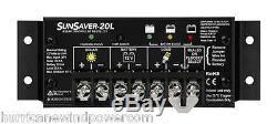Morningstar SS-20L-12V SunSaver 20 amp 12 volt Solar Charge Controller with LVD