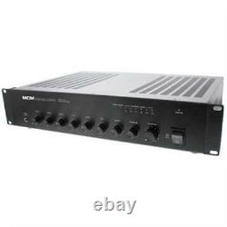 NEW 60W 70v Paging Amplifier. 6 inputs. Commercial Background Music. 19 Rack Mount