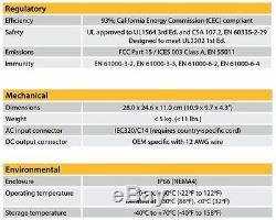 NEW 72v Delta Q QuiQ Replacement Charger 72 volt / 12 amp Gem Car 912-7200-D1