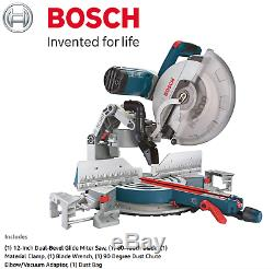 NEW Bosch GCM12SD 120 Volt 12 Inch 15 Amp Axial Dual Bevel Glide Miter Saw Blade