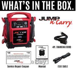 NEW Jump-n-carry 1700 Peak Amp Premium 12-Volt Jump Starter Red JNC770R
