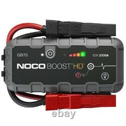 NOCO Boost HD GB70 2000 Amp 12-Volt UltraSafe Lithium Jump Starter For Up To8