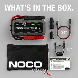 NOCO Boost HD GB70 Car Battery Booster Pack Jump Starter 2000 Amp 12-Volt