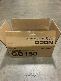 NOCO Genius Boost Pro GB150 4000 Amp 12 volt UltraSafe Lithium Jump Starter