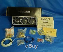 NOS vintage RAC Astro triple gauge set 925 Hot rod muscle car truck gauges nib