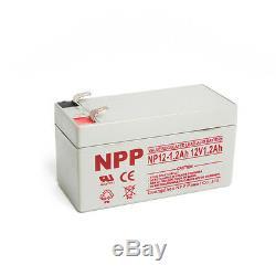 NPP 12V 1.2Ah 12Volt 1.2 amp Rechargeable Lead Acid Battery For Alarm System