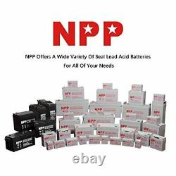 NPP 12V 8Ah 12Volt 8Amp Rechargeable Sealed Lead Acid Battery With F2