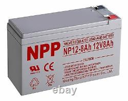 NPP 12V 8Ah 12Volt Rechargeable Lead Acid Battery for APC BACK-UPS With F2