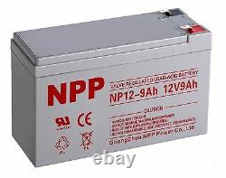 NPP 12V 9Ah 12Volt 9amp Rechargeable lead Acid Battery CP1290 6-DW-9 PS-1290 F2