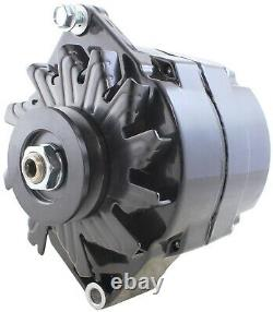 New 12 Volt 110 Amp 1 Wire Alternator Black Finish For SBC BBC 305 350 454