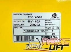 New 48 Volt 60 Amp 240v Single Phase Forklift Charger 48v 208v 220v 1p