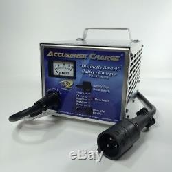 New DPI 48v Club Car Golf Cart Battery Charger 48 volt 17 Amp Round 3 Pin Plug