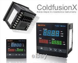New Digital AC Power Watt Meter+Volt+Amp Display+Alarm