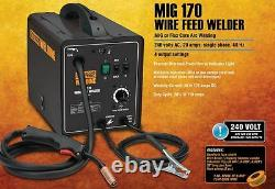New Electric 170 Amp-DC, 240 Volt, MIG Flux Cored Wire Arc Welder Tool Machine