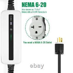 Portable EV Charger Electric car Charging Cable 16A NEMA 6-20 EVSE 110V-220V