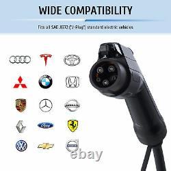 Portable Electric Vehicle Car Charger EV EVSE J1772 240V 32A for Leaf Volt Tesla