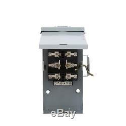 Power Transfer Switch Non Fused Emergency 100 Amp 240-Volt Run Backup Generator
