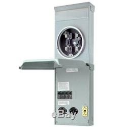 RV Outlet Box 100 Amp 120/240-Volt Ring Type Metered with 50 Amp, 30 Amp an