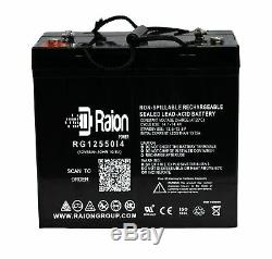 Raion 12V 55Ah Battery For Wheelchair 12 Volt 55 Amp 2 PK