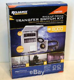 Reliance 3006HDK 6-Circuit Transfer Switch Kit 30-Amp 220/250 Volt 8,000-Watt
