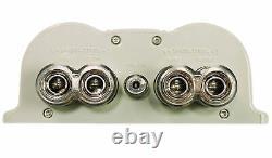Rockville RFC30F 30 Farad Capacitor Volt Display+ Amp Kit Black Wire Mesh Cover