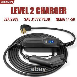 SAE J1772 Mobile Connector Charger 32A 240V NEMA 14-50 for Model 3 S X charging