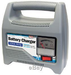 SWBCG4 12 Volt 4 Amp Heavy Duty Portable Car Van Bike Automatic Battery Charger
