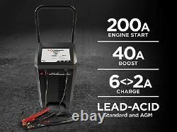 Schumacher Heavy Duty 200 Amp Wheeled 6 & 12 Volt Battery Starter Charger Auto