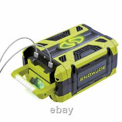 Snow Joe + Sun Joe Lithium-iON Battery 100-Volt 5.0-Ah Dual USB Ports