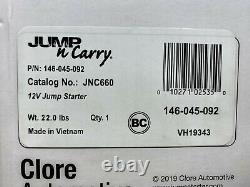 Solar Jump-N-Carry JNC 660 1700 Peak Amp 12 Volt Jump Starter Clore Automotive