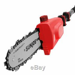 Sun Joe Cordless Telescoping Pole Chain Saw 8-inch 2.5-Amp 20-Volt (Red)