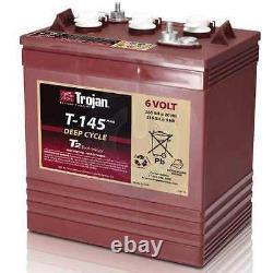 Trojan T-145 6v 6 volt 260 Amp hour Golf Cart Lead Acid deep (cycle battery)