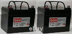 (Two) 12 Volt 35 AMP VRLA AGM Sealed Lead Acid Battery Multipurpose for 33Ah 34A