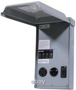 Unmetered RV Outlet Box 100 Amp 3-Space 3-Circuit 240-Volt Power 50/30/20 GCFI