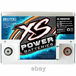 XS Power D4700 D-Series AGM Battery 12-Volt CA 745 Ah 50 2000W / 3000W Max Amp