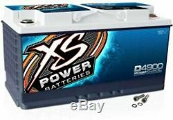 XS Power D4900 12 Volt AGM 4000 Amp Sealed Car Audio Battery/Power Cell+Terminal