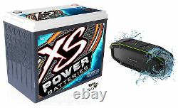 XS Power D7500 6000 Amp 12 Volt Power Cell Car Audio AGM Battery+Free Speaker